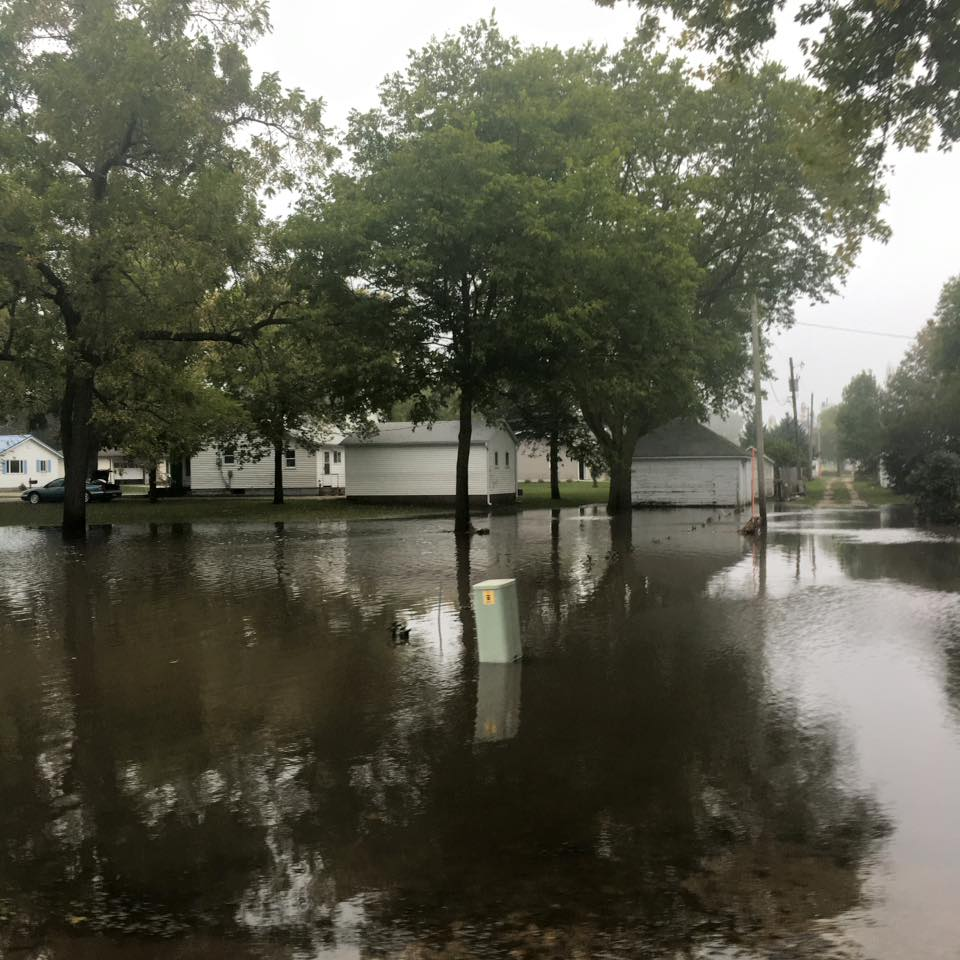 Flooding in Clarksville, Iowa. September 2016. Photo: Office of the Governor, Iowa