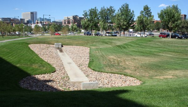 Detention pond at Auraria Campus, Denver, Colorado. Photo: Jeffrey Beall under CC BY-SA 2.0