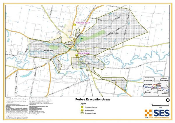 SES Evacuation Order Map