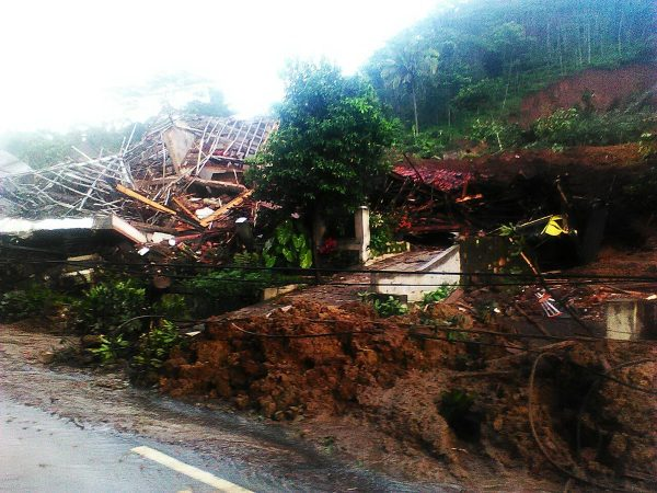 Landslide in Sumedang. Photo: BNPD