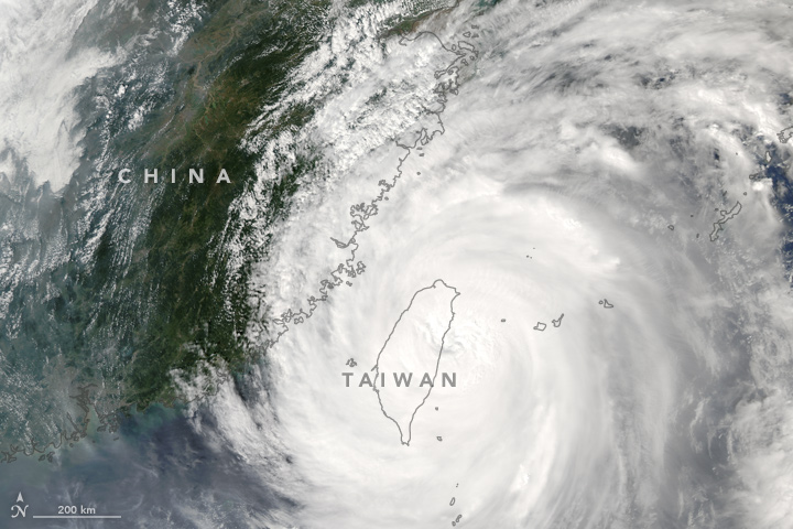 Typhoon Megi, September 2016. Image: NASA