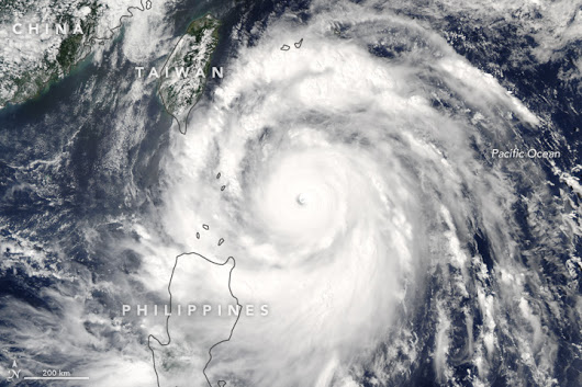 Tropical Cyclone Meranti. Image; NASA