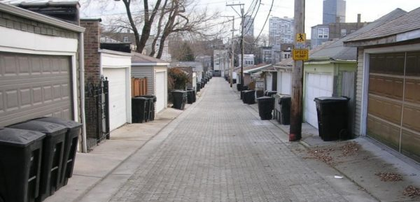 Permeable Pavers and Permeable Concrete Chicago Alleys (Source: Abby Hall, US EPA)