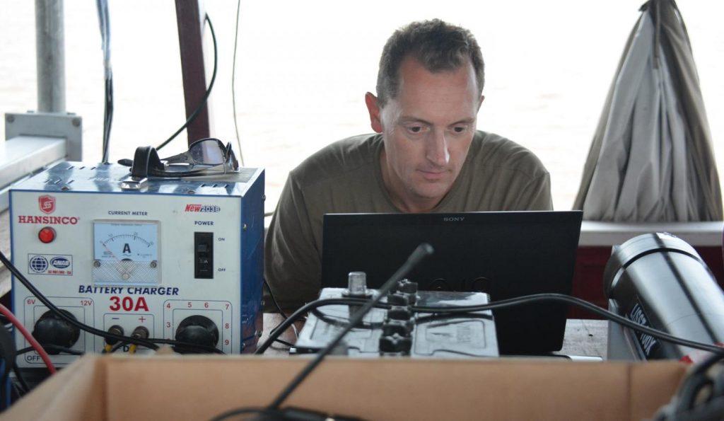 Professor Stephen Darby on fieldwork. Credit:  University of Southampton