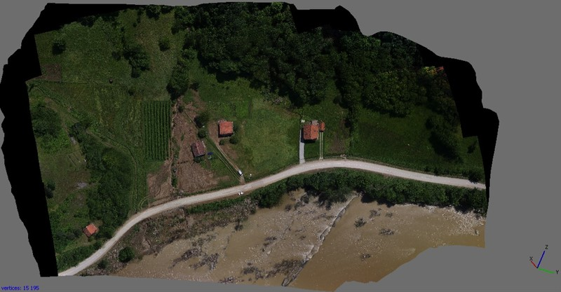 Ortho-rectified mosaic processed from imagery captured via ICARUS UAV. Credit: ICARUS.