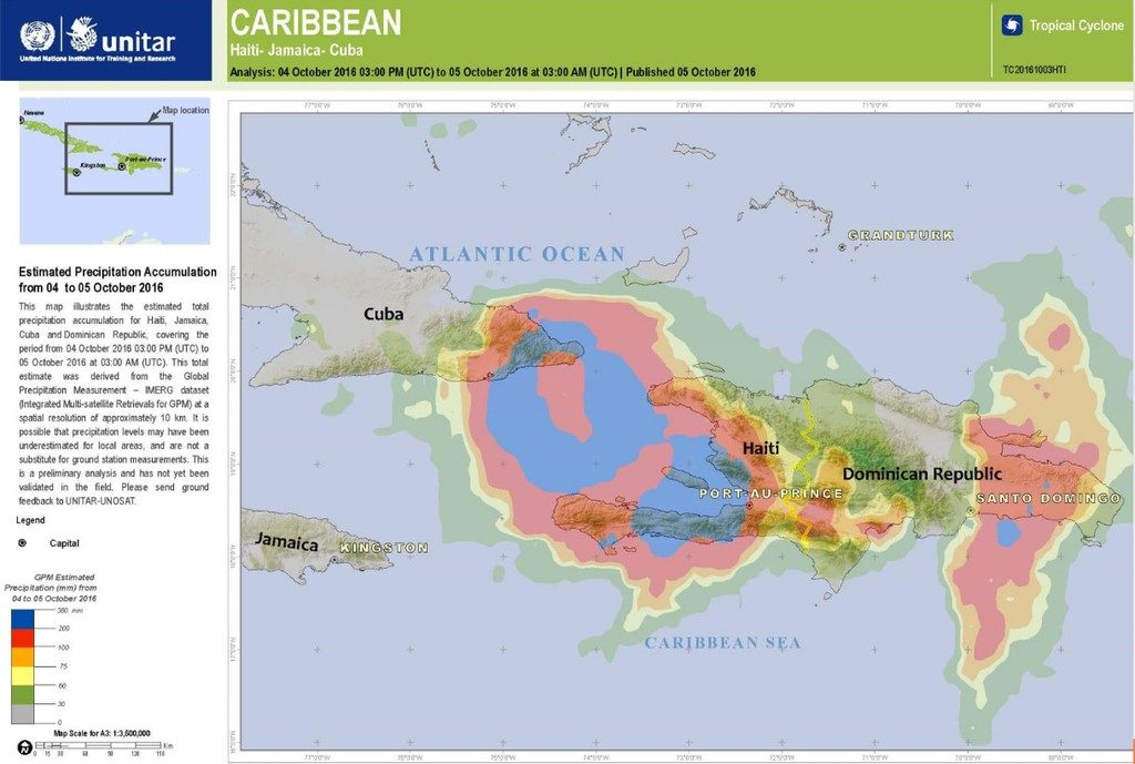 Haiti Hurricane Matthew Update FloodList - Haitian map