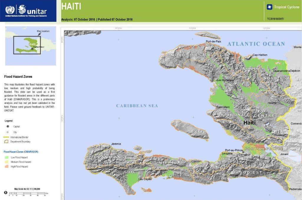 Haiti Hurricane Matthew Update FloodList - Haiti regions map