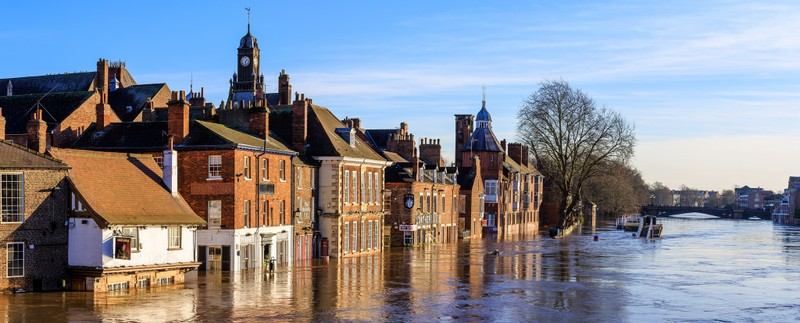 Floods in historic Yor, England, December 2015. Photo: Allan Harris / Flickr https://www.flickr.com/photos/allan_harris/ CC BY-NC-ND 2.0 https://creativecommons.org/licenses/by-nc-nd/2.0/