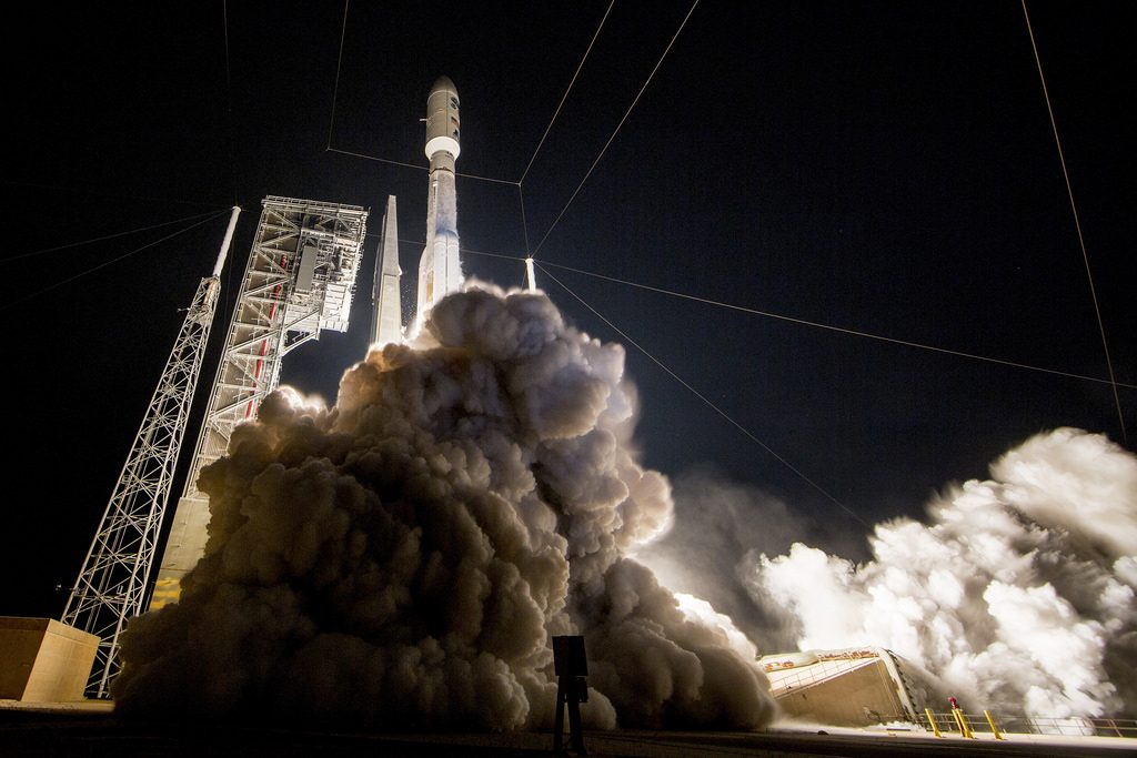 Launch of the GOES-R satellite. Image: NOAA Staellites
