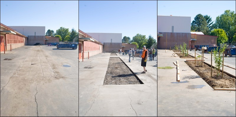 Before and after. Photo: Depave
