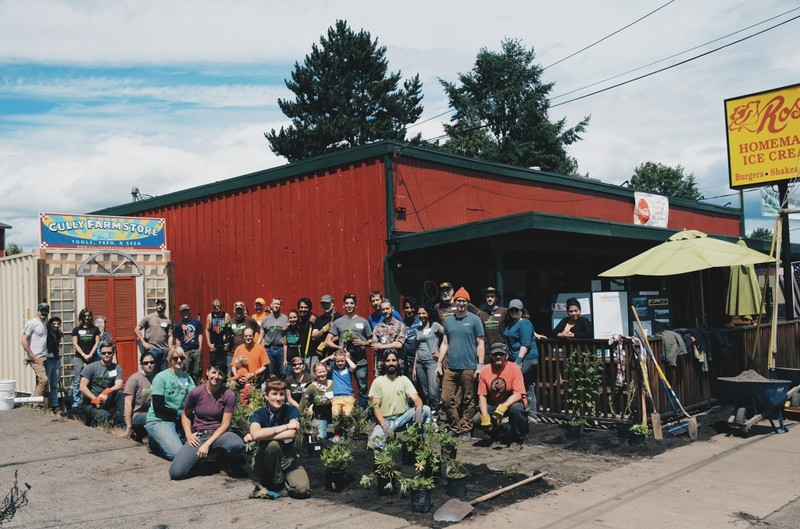 A team of Depave volunteers. Photo: Depave