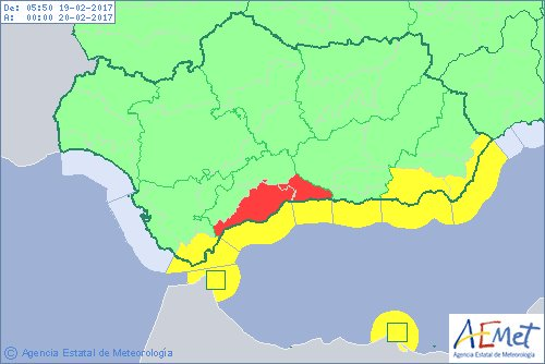 Spain – Flash Floods in Malaga After 130mm of Rain in 6 ... on costa del sol map, venice italy area map, cities in spain malaga map,