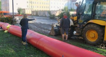 Poland – Floods in Elblag After 80mm of Rain in 24 Hours