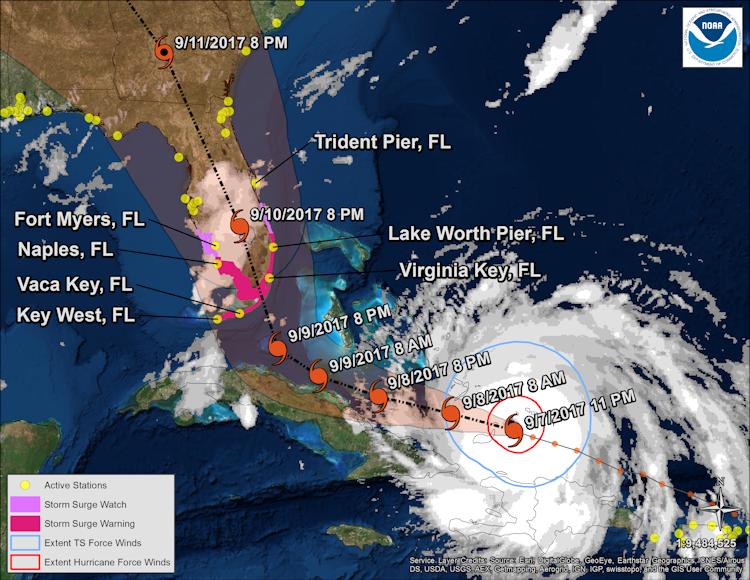 Hurricane Irma Storm Batters Caribbean Islands Evacuations In
