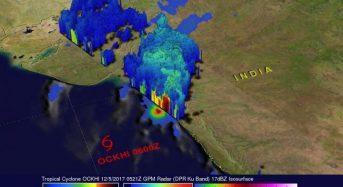 NASA Sees Ockhi's Rain Reach India's Western Coast