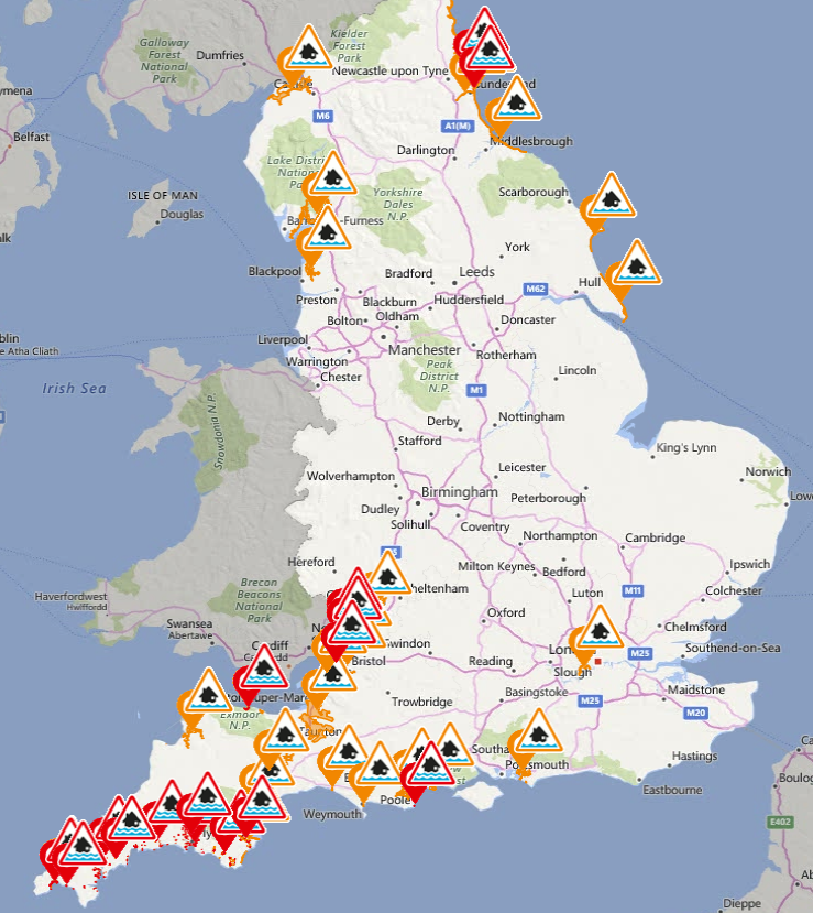 flood warnings for england 04 march 2018 image environment agency