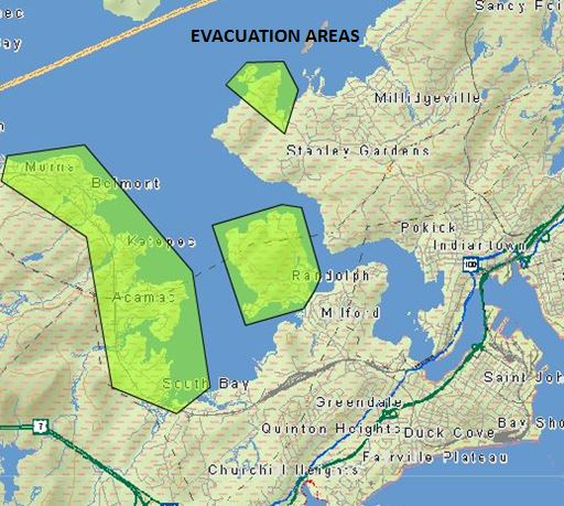 Evacuations In New Brunswick After St John River