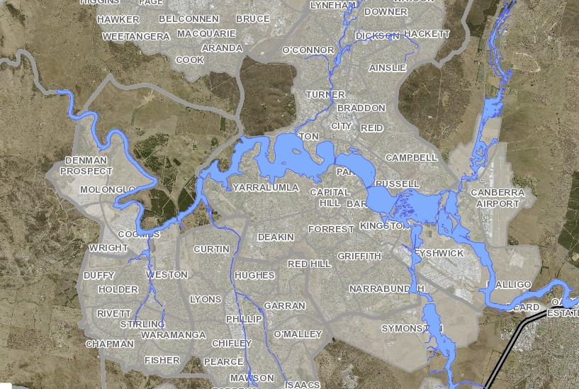 Australia Map Canberra.Australia Updated Flood Maps For Canberra Released Floodlist