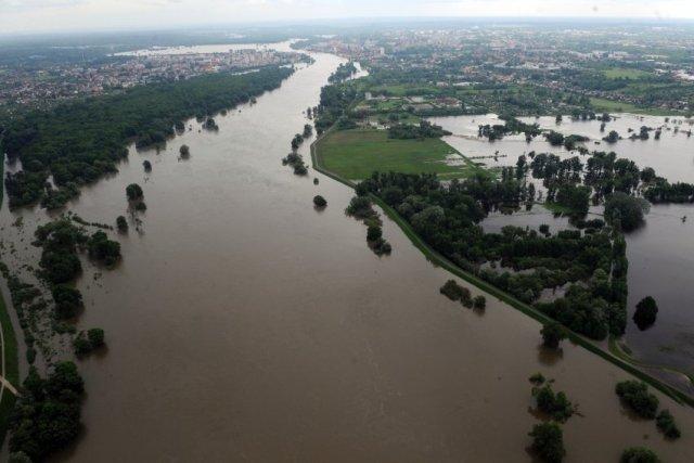 River Oder floods at Ratzdorf