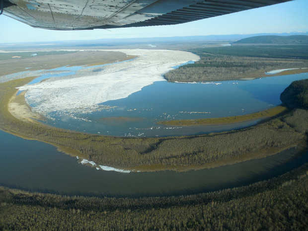 air view ice block galena