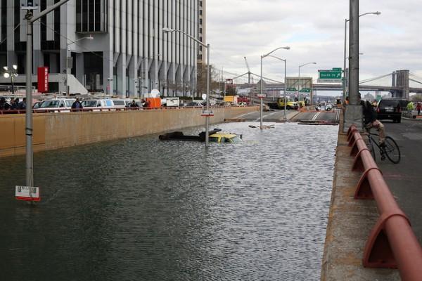 battery park tunnel flood