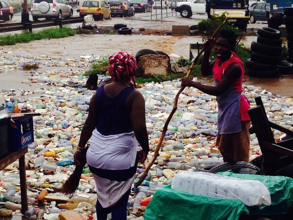 trash floods accra