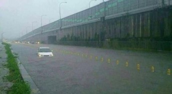 Flash Floods in Southern Taiwan After 30cm of Rain in 12 Hours