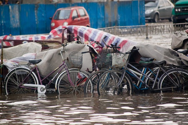 File photo: flooded streets in China. Photo credit
