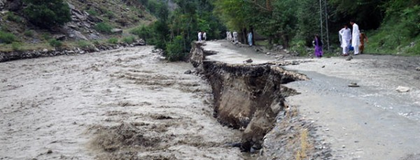Chitral flood damage, July 2015, Pakistan. Photo: PDMA