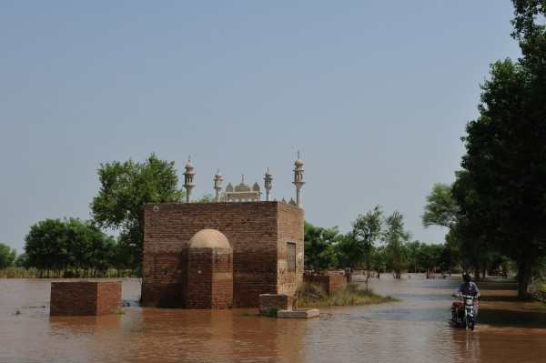 File Photo: Pakistan. Punjab, 2014  Stagnant flood water on Jhang-Sargodha road, District Jhang in the wake of the recent monsoon floods that severely hit the provinces of Punjab and Gilgit Baltistan, and the state of Azad Jammu and Kashmir.