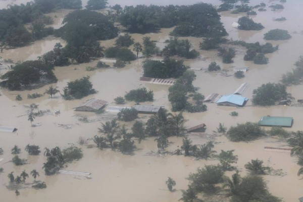 Floods in Myanmar, July and August 2015. Photo: Myanmar Red Cross