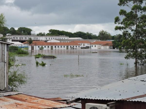 Floods in Uruguaiana municipalities in the Brazilian state of Rio Grande do Sul, December 2015.Photo: Defesa Civil de Uruguaiana 25/12/2015