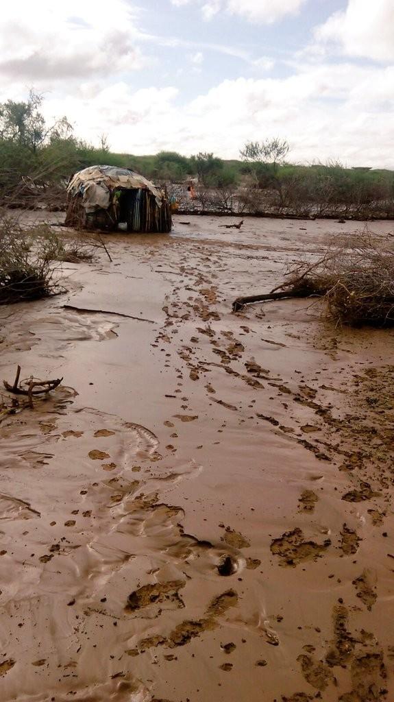 Oldonyiro in isiolo, after heavy rain in December 2015. Photo: Kenya Red Cross