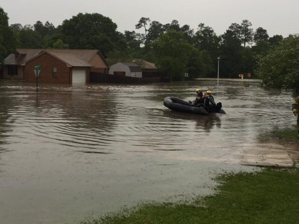 Flood rescue in Gulfport. Mississippi, 28 April 2016. Photo: Gulfport Police Department