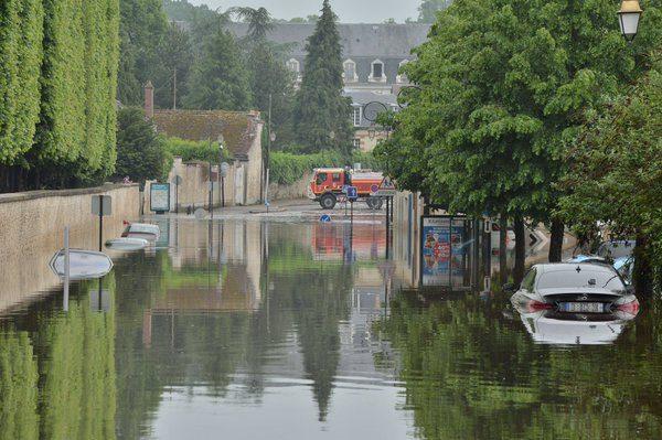 Floods in Rambouillet, France, 01 June 2016. Photo; Ministère Intérieur