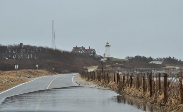 Coastal flooding at Woods Hole, Massachusetts. Photo:  Putney Pics / Flickr, under CC BY 2.0