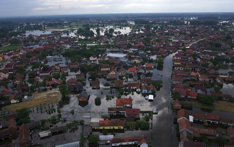 Aerial image of flooded areas in Bosnia, 2014, captured by the ICARUS UAV. Credit: ICARUS.
