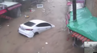South Korea – 7 Dead After Typhoon Chaba Dumps 280mm of Rain