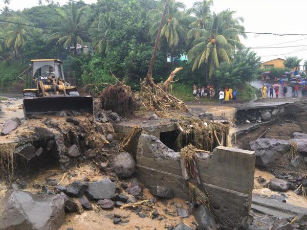 Flood damage in the North Windward Islands, St Vincent and the Grenadines, November 2016. Photo: Photos: Senator Camillo M. Gonsalves