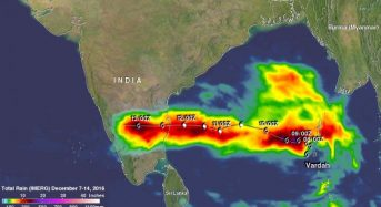 NASA Finds a Lifetime of Heavy Rainfall From Tropical Cyclone Vardah