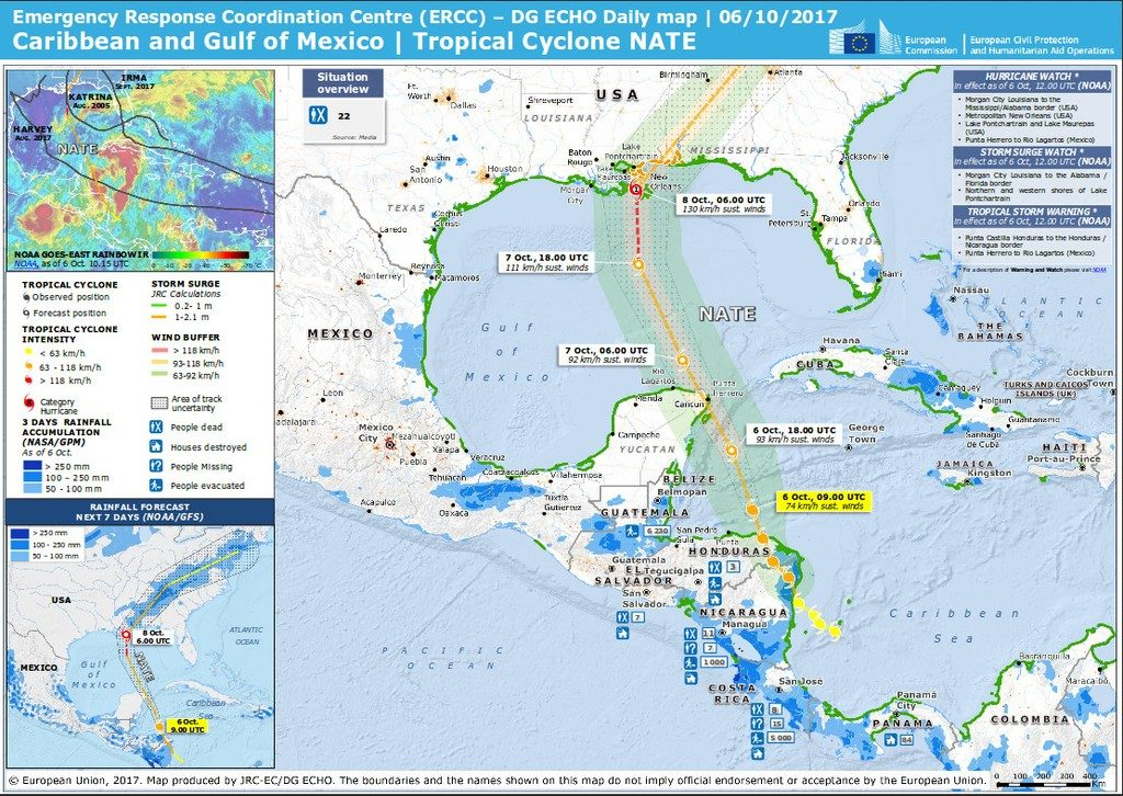 Central America – Storm Nate Causes Deadly Floods in Costa Rica