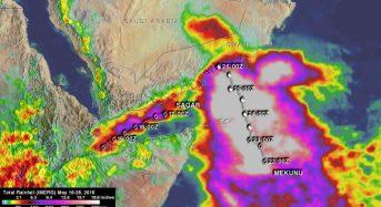 NASA Analyzes Northern Indian Ocean Rainfall of Soaking Separate Cyclones