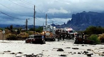 USA – Flood Rescues After Heavy Rain in Arizona