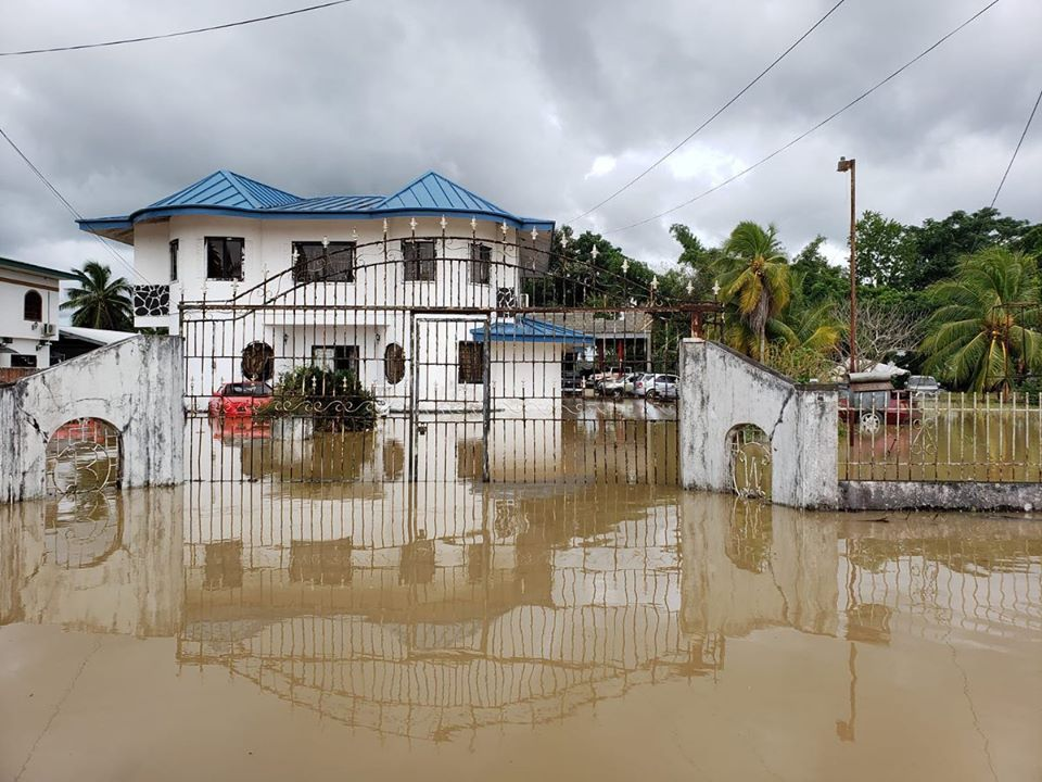 Flooding in Trinidad and Tobago due to heavy Rainfall
