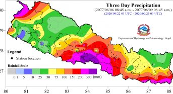 Nepal – Heavy Rain and Floods in Southern Central Areas Leave 4 Dead, Houses Destroyed