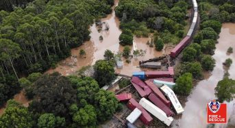 Australia – Train Derailed by Floods in New South Wales