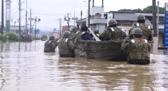Japan – Dozens Rescued From Floods, 3 Killed in Mudslide After More Heavy Rain